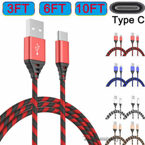 2 Pack Type C Charging Cable Charge Cord For MOTO Z4 Z3 Z2 Force G6 Plus G7 Play