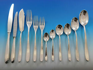 Winterset by Buccellati Italy Sterling Silver Flatware Set Service 388 pc Dinner