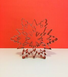 Large Stainless Steel Detailed Snowflake Cookie Cutter