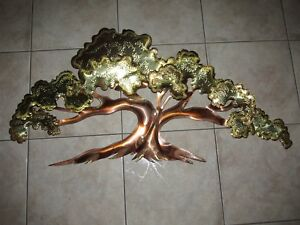 VTG Curtis Jere Style~Brutalist CopperMetalBrass Abstract Tree Wall Sculpture