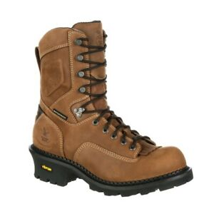 GEORGIA MEN#x27;S COMPOSITE TOE LOGGER WP INSULATED WORK BOOTS GB00098 M W 8 13 NEW