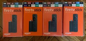 Lot Of 4 Amazon Fire Tv Stick 2019 With Alexa Voice Remote Streaming Media Play