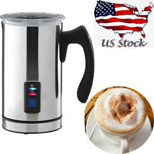 Electric Milk Frother Heater Steamer Foam Creamer for Hot&Cold Latte Cappuccino