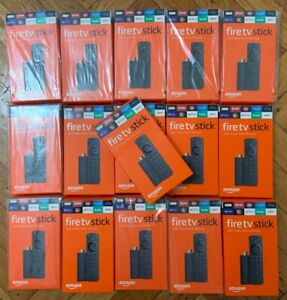 Lot Of 16 Amazon Fire Tv Stick 2019 With Alexa Voice Remote Streaming Media Play