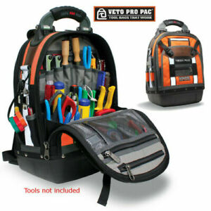 Veto Pro Pac Tech Pac Backpack Waterproof Tool Storage Tech Bag 46 Pockets Orang