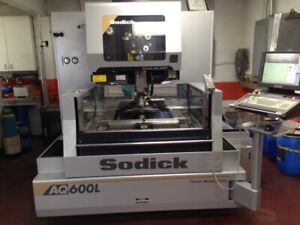 PRICE DROP! EXCELLENT HARDLY USED CONDITION! 2012 Sodick AQ600L Wire EDM Machine