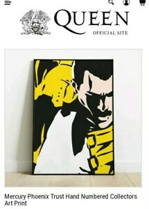 QUEEN.... FREDDIE MERCURY PHOENIX TRUST.  NUMBERED LITHOGRAPH POSTER..SOLD OUT!