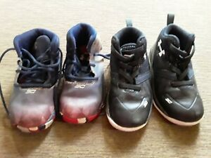 Steph Curry Under Armour Toddler Boy Shoes size 6t. 30 for both.