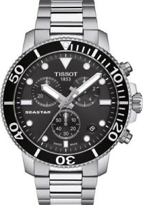 NEW TISSOT SEASTAR 1000 QUARTZ CHRONO BLACK T1204171105100 T120.417.11.051.00