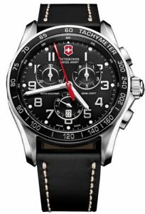 Victorinox Swiss Army Men's 241444 Chrono Classic Black Chronograph Dial Watch