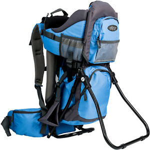 ClevrPlus Outdoor Baby Toddler Light Backpack Camping Hiking Child Carrier Blue