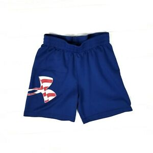Under Armour Toddler Boys Size 4 Red White Blue Patriotic Basketball Shorts