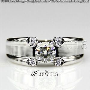 Pretty 1.86 CT Off White Yellow Real Moissanite Ring Wedding 925 Silver Ring 00