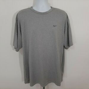 Nike Fit Dry Men's Athletic Tee Shirt Size 2XL Grey Embroidered Logo ST14