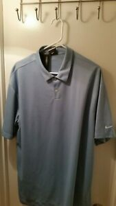 New Nike Golf Polo Shirt Size XL Extra Large Blue color Fit Dry
