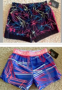NWT UA UNDER ARMOUR Kid Girl 6 6X Athletic Sports Shorts Colorful NEW PICK SIZE
