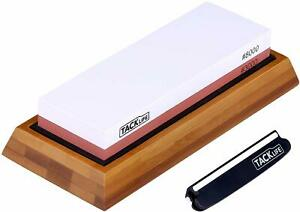 TACKLIFE Premium Knife Sharpening Stone, 3000/8000 Grits Double-Sided Whetstone
