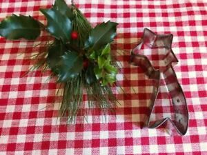 Antique SHOOTING Christmas STAR Cookie Cutter Vintage TIN Metal $15.00