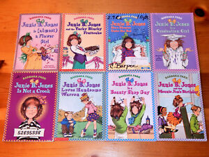 Lot of 8 JUNIE B. JONES Paperbacks by Barbara Park KIDS Chapter Books Ages 6-9