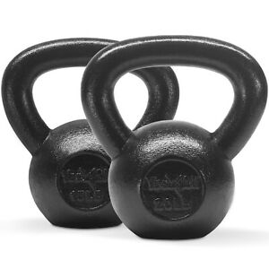 Yes4All Kettlebell - Cast Iron - 15+20lbs