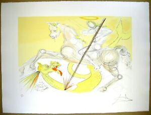 Salvador Dali Etching St. George and the Dragon Hand Signed Limited F S Japan $650.00