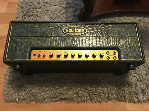 Rare Soultone 1987PS Tube Guitar Amp Head Green Crocodile-Marshall Plexi-Mint!