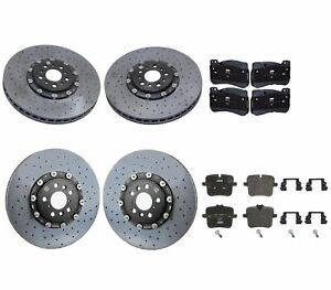 Genuine Front & Rear Brake Kit Carbon Ceramic Disc Rotors & Pads For BMW F90 M5
