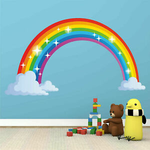 Rainbow Wall Decal Kids Wall Sticker Nursery Home Decor Bedroom Wall Decor