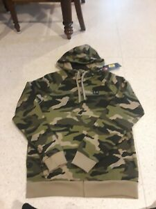 NWT UNDER ARMOUR MENS RIVAL ZIP UP HOODIE HOODY GREEN CAMO camouflage $44.99