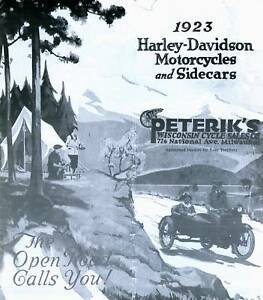 1923 HARLEY DAVIDSON MOTORCYCLE amp; SIDECAR BROCHURE Antique Reproductions $18.00