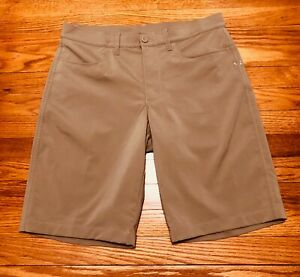 Under Armour Mens 1272355 Leaderboard Golf Shorts TAN - size 32 NWOT