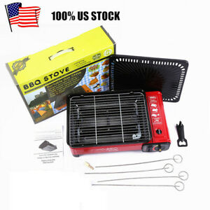 Portable Smokeless BBQ Gas Grill Stove Stainless Steel for Home Outdoor Barbecue