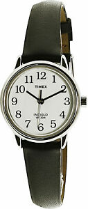 Timex Women's Easy Reader T20441 Black Leather Quartz Fashion Watch