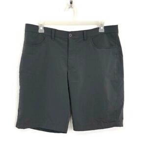 Under Armour Mens Size 38 Gray Fitted Flat Front Golf Shorts