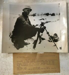 WW2 Original ACME Telephoto US Soldier On The German Front 11 12 1944