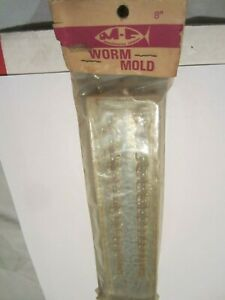 Vintage fishing lure KM Molds 8 in rubber worm Monster