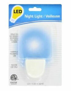 Bright Blue Glow Plug In LED Night Light.  Pack of 2