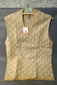 Antique Vest Vintage Wool New Small Hole Old Stock Kitsch Dauphilaine