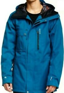 Quiksilver Travis Rice First Class Waterproof Blue Ski Snowboard Jacket S Mens