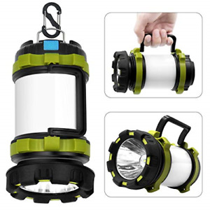 Wsky Rechargeable Camping Lantern Flashlight 6 Modes 3600mAh Power Bank Two W...
