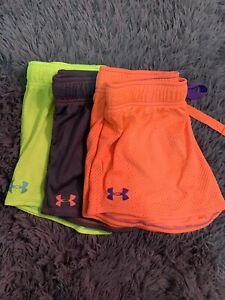 girls under armour shorts large 3 pack