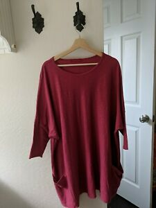 Womens plus Size Cut Loose clothing Tunic Top CottonLinen Size One
