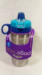 Pogo  12oz Leak Proof Flip Lid Backpack Friendly BPA Free Vacuum Insulated Water