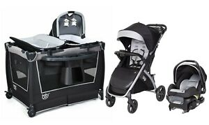 Baby Trend Travel System with Car Seat Combo Playard Bassinet Crib Girls Boys