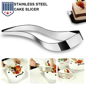 Stainless Steel Perfect Cake Slicer Cutter Serving Kitchen Utensils Gadget Tool
