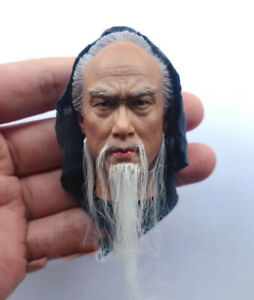 1 6 Scare Ancient Male Head Carving Long Planted Beard Model Fit 12quot; Figure $59.99