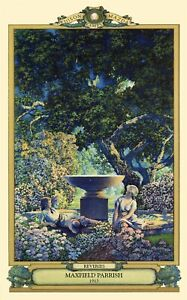 Maxfield Parrish Reveries Art Deco Print 11quot;x17quot; on Poster Stock Free Samp;H $12.95