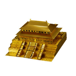 1:570 Scale Forbidden City Statue Build Kits Metalwork Collectibles Gold