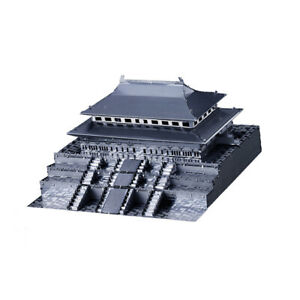 1:570 Scale Forbidden City Statue Build Kits Metalwork Collectibles Silver