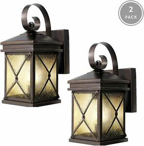 2 Pack Exterior Light Outdoor Wall Lantern Waterproof Outdoor Front Door Patio